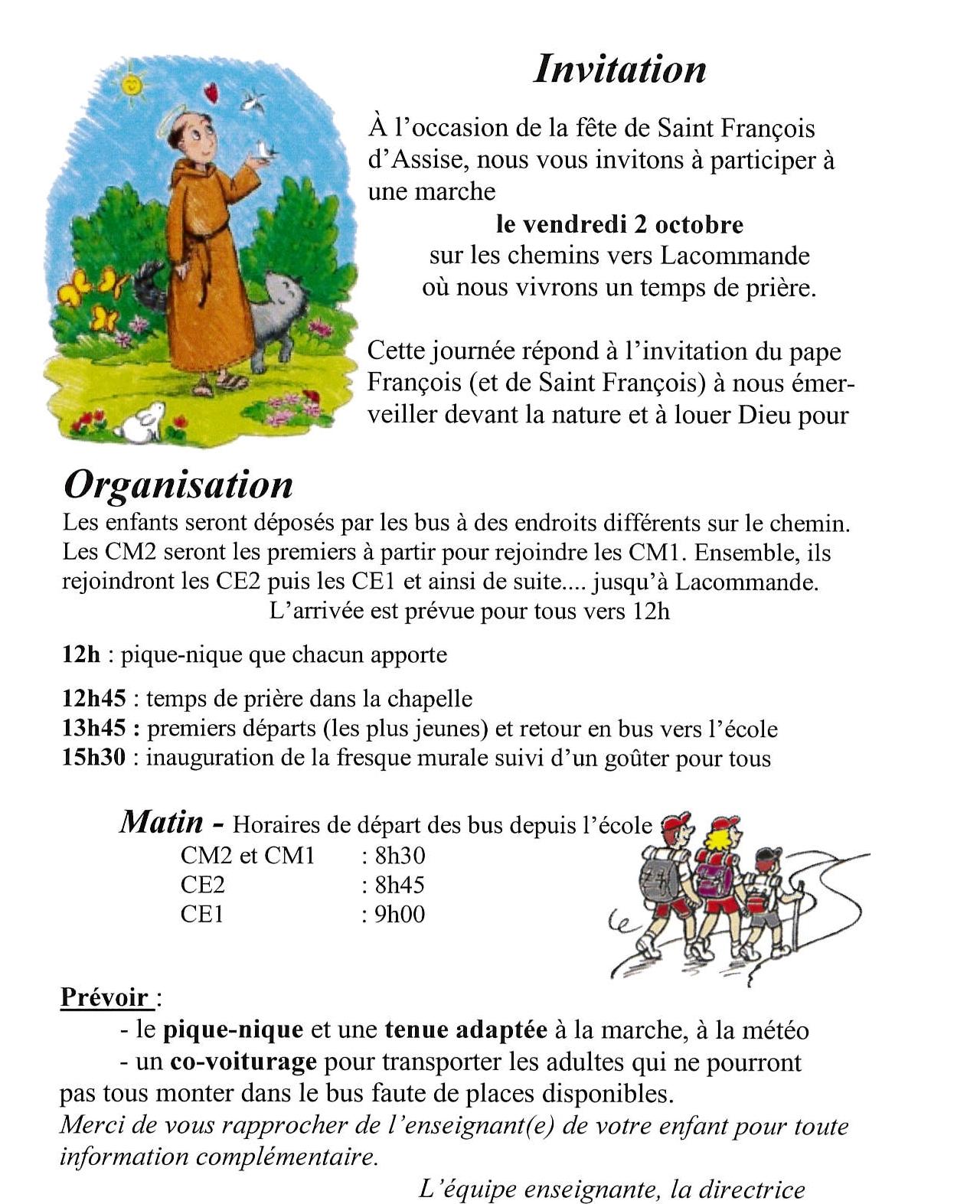 Bien-aimé La fête de notre saint Patron, Saint François d'Assise IN23